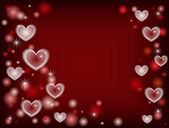 Millions of hearts red — Stock Photo