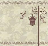 Floor lamp beige — Stock Photo
