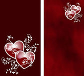 Two side hearts — Stock Photo