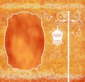 Floor lamp orange — Stock Photo
