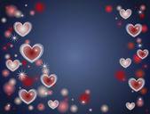 Millions of hearts blue — Stock Photo
