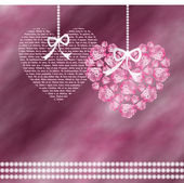 Two shaped hearts — Stock Photo