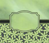 Green flower pattern — Stock Photo