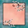 Stock Photo: Square pattern blossom