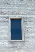 Window Vintage cube walls stone. — Stock Photo