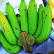 Stock Photo: Green bananas in market