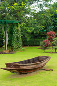 Rowing boat on the grass. — Stock Photo