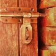 Bolt lock door - vintage style. — Stock Photo