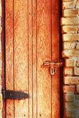 Bolt lock door - vintage style. — Stock Photo