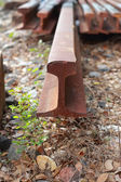 Railway sleepers. — Stock Photo