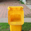 Yellow Trashcan — Stock Photo