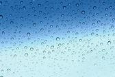 Water drop on glass - windshield rain. — Stock Photo