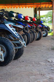 Line up of offroad car — Stock Photo