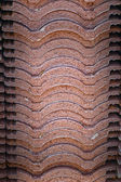 Brown tiles background - for tiling. — Stock Photo