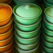 Earthenware green and brown - in the market. — Stock Photo