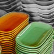 Earthenware green and brown - in the market. — Stock Photo #34814753