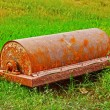 Steel roller parts car - put on grass. — Stock Photo #34844053