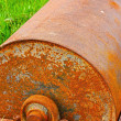 Steel roller parts car - put on grass. — Stock Photo #34844779