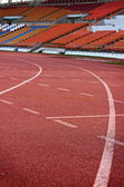 Running track for in the stadium. — Stock Photo