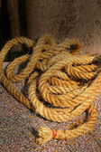 Placed the old rope together. — Stock Photo