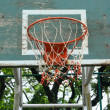 Basketball hoop against on the sky — Stock Photo