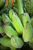 Close-up di banana verde — Foto Stock