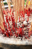 Incense sticks burning and in an altar at temple — Stock fotografie