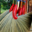 Broom in market — Stock Photo