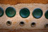 Bottle green earth wall as background. — 图库照片