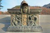 Bronze statue Seoraksan, Korea. — Stock Photo