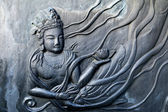 Surface of Style Bronze wall of the temple in Korea. — Photo