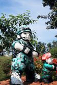 Thai Military sculpture dolls — 图库照片