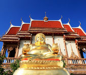 Gold Happy Buddha - Temple Thailand. — Stock Photo