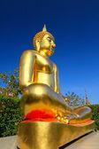 Meditando in bronzo buddha - tempio thailandia. — Foto Stock