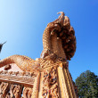 Stock Photo: Gold serpent in buddhist temple