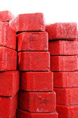 Red brick for construction background texture — Stockfoto