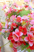 Pink beautiful artificial flowers — Stock Photo