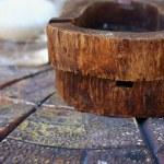 Vintage wooden ashtray. — Stock Photo