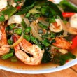 Spicy fried seafood, shrimp, squid. — Stock Photo #38948687