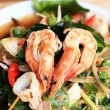 Spicy fried seafood, shrimp, squid. — Stock Photo #38949091