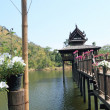 Thai Wooden House in river — Stock Photo #39745271