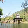 Thai Wooden House in river — Stock Photo #39745695