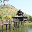 Thai Wooden House in river — Stock Photo #39745811