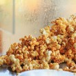 Stock Photo: Popcorn caramel coated