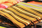 Handmade silk designs Thailand market. — Foto de Stock
