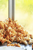 Popcorn a caramel coated — Stock Photo