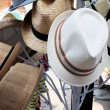 Hats are stacked for sale at market — Stock Photo #39826955