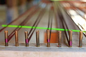 Closeup of weaving thread for the textile industry — Stock Photo