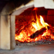 Wood fire oven for making pizza. — Stock Photo