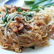 Stir fried noodles put pork. — Stock Photo #40150753